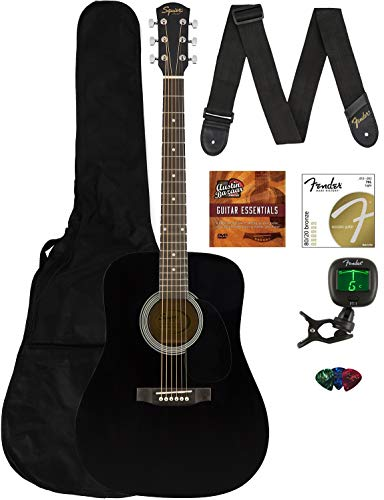 CD-60S Solid Top - Black - Dreadnought with Gig Bag