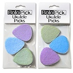 BoloPick Felt Pick for Ukulele 6 Pack Multi Color