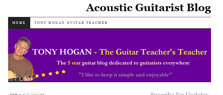 Acoustic Guitarist Blog