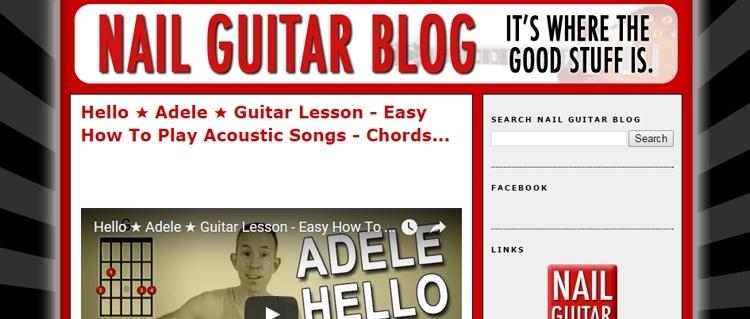 Nail Guitar Blog