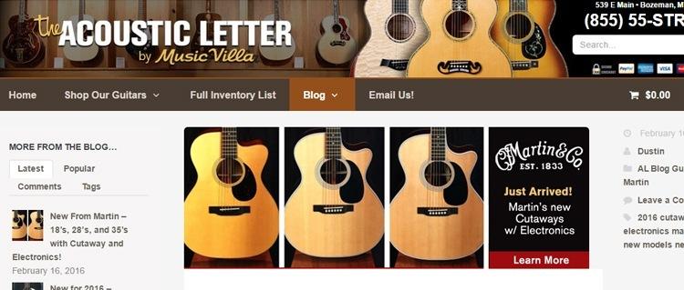 The Acoustic Letter Acoustic Guitar Blog