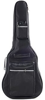 ADM Acoustic Guitar Nylon Padded Gig Bag with Pockets