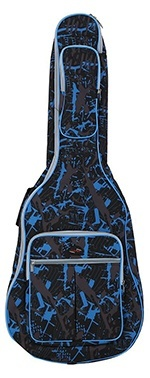 Andoer 600D Water resistant Oxford Cloth Camouflage Blue Double Stitched Padded Straps Gig Bag Guitar Carrying Case for 41Inchs Acoustic Classic Folk Guitar