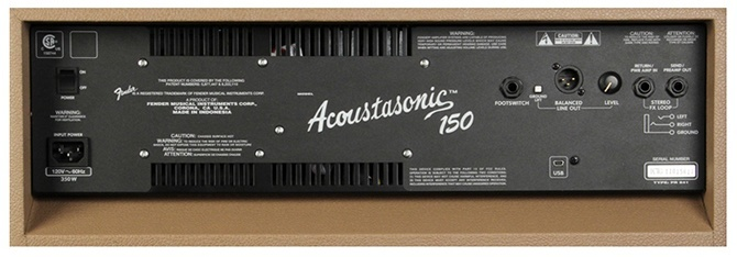 Fender Acoustasonic (TM) 150 Combo Brown back panel