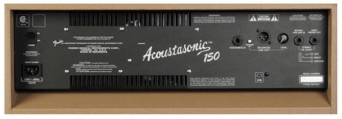 Fender Acoustasonic (TM) 150 Combo Brown back panel