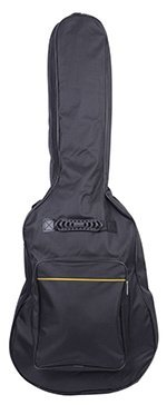 Glarry 41 Inch High Quality Dual Adjustable Shoulder Strap Guitar Bag Case Black