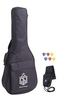 World Stage WS172001 Acoustic Guitar Gig Bag Kit