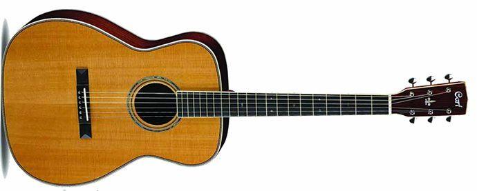 Cort L900C Nat Acoustic Guitar Parlor Size