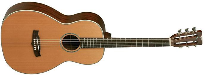 Tanglewood Solid Top & Back Cedar Mahogany Guitar, Natural Satin (TW73)