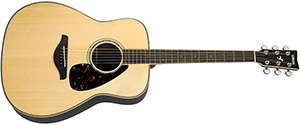 Yamaha FG730S Solid Top Acoustic Guitar Rosewood, Natural