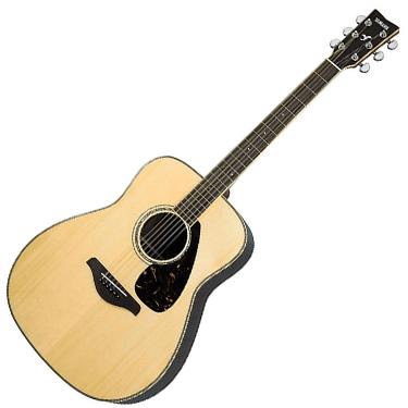 Yamaha FG730S Solid Top Acoustic Guitar Rosewood Natural