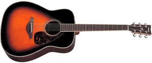 Yamaha FG730S Solid Top Acoustic Guitar - Rosewood, Tobacco Brown Sunburst thumb