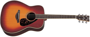 Yamaha FG730S Solid Top Acoustic Guitar - Rosewood, Vintage Cherry Sunburst thumb