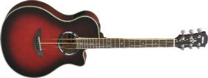 Yamaha JR2 34 Size Guitar with Gig Bag, Natural tobacco sunburst