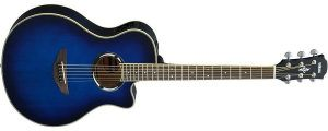 Yamaha APX500III OBB Thinline Acoustic-Electric Cutaway Guitar, Oriental Blue Burst