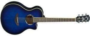 Yamaha APX500III OBB Thinline Acoustic-Electric Cutaway Guitar, Oriental Blue Burst