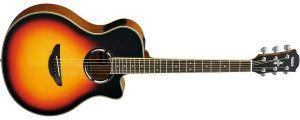 Yamaha APX500III VS Thinline Acoustic-Electric Cutaway Guitar, Vintage Sunburst
