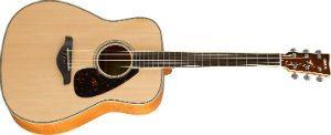 Yamaha FG840 Dreadnought Acoustic Guitar, Flamed Maple