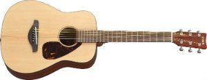 Yamaha JR2 34 Size Guitar with Gig Bag, Natural mahogany body