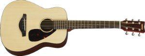 Yamaha JR2 34 Size Guitar with Gig Bag, Natural solid top mahogany body
