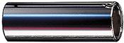Dunlop 220 Chromed Steel Slide, Medium Wall Thickness, Medium
