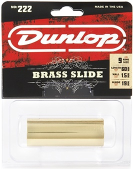Dunlop 222 Brass Slide, Medium Wall Thickness, Medium details