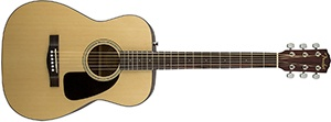 Fender Acoustic Guitar CF-60 - Natural - Folk - With Hardshell Case