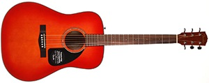 Fender CD-60 Dreadnought Acoustic Guitar with Hard Shell Case - Cherry Sunburst