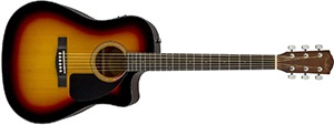 Fender CD-60CE Dreadnought Cutaway Acoustic-Electric Guitar - Sunburst