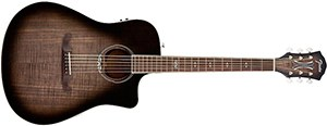Fender T-Bucket 300 Acoustic Electric Guitar with Cutaway, Rosewood Fingerboard - Moonlight Burst