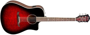 Fender T-Bucket 300 Acoustic Electric Guitar with Cutaway, Rosewood Fingerboard - Trans Cherry Burst