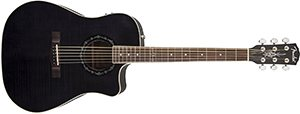 Fender T-Bucket 300CE Cutaway Acoustic-Electric Guitar, Flamed Maple Top, Mahogany Back and Sides, Fender Preamp - 3-Color Black