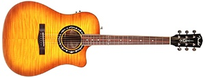 Fender T-Bucket 300CE Cutaway Acoustic-Electric Guitar, Flamed Maple Top, Mahogany Back and Sides, Fender Preamp - 3-Color Honey Burst