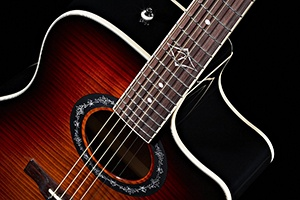 Fender T-Bucket 300CE Cutaway Acoustic-Electric Guitar, Flamed Maple Top, Mahogany Back and Sides, Fender Preamp - 3-Color Sunburst 2
