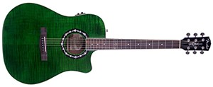 Fender T-Bucket 300CE Cutaway Acoustic-Electric Guitar, Flamed Maple Top, Mahogany Back and Sides, Fender Preamp - 3-Color Green
