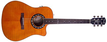 Fender T-Bucket 300CE Cutaway Acoustic-Electric Guitar, Flamed Maple Top, Mahogany Back and Sides, Fender Preamp - 3-Color Sunburst