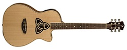 Luna Trinity Acoustic - Electric Guitar Parlor Cutaway - Natural