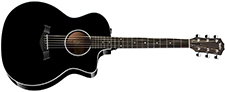 Taylor 214ce Deluxe Grand Auditorium - Black, Sapele Back & Sides