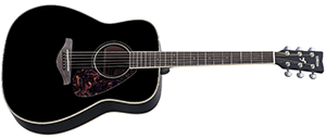 Yamaha FG720S Folk Acoustic Guitar with Mahogany Back and Sides Natural black