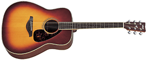 Yamaha FG720S Folk Acoustic Guitar with Mahogany Back and Sides Natural brown sunburst