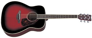 Yamaha FG720S Solid Top Acoustic Guitar - Mahogany, Dusk Sun Red