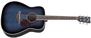 Yamaha FG720S Solid Top Acoustic Guitar - Mahogany, Ocean Blue Burst