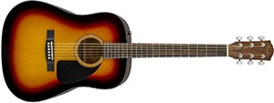 Fender Acoustic Guitar CD-60 - Sunburst - Dreadnought - With Case