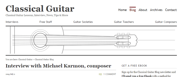 The Classical Guitar Blog