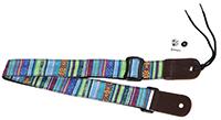CLOUDMUSIC Colorful Hawaiian Vintage Ethnic Cotton Ukulele Strap Blue For Soprano Concert Tenor Baritone Strings Instruments
