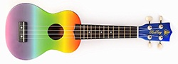 Honsing Soprano Ukulele Fade Color New Basswood Hawaii Guitar 21 Gift for Children