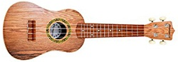 "Kangaroo's 22.5"" Ukulele with Electronic Tuner, Strap, Picks, Carrying Case and Songbook"
