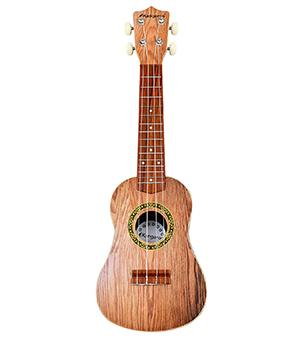Kangaroo's 22.5 Ukulele with Electronic Tuner, Strap, Picks, Carrying Case, and a Songbook