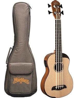 Oscar Schmidt Comfort Series Bass Ukulele, SpruceTop, Koa Back & Sides