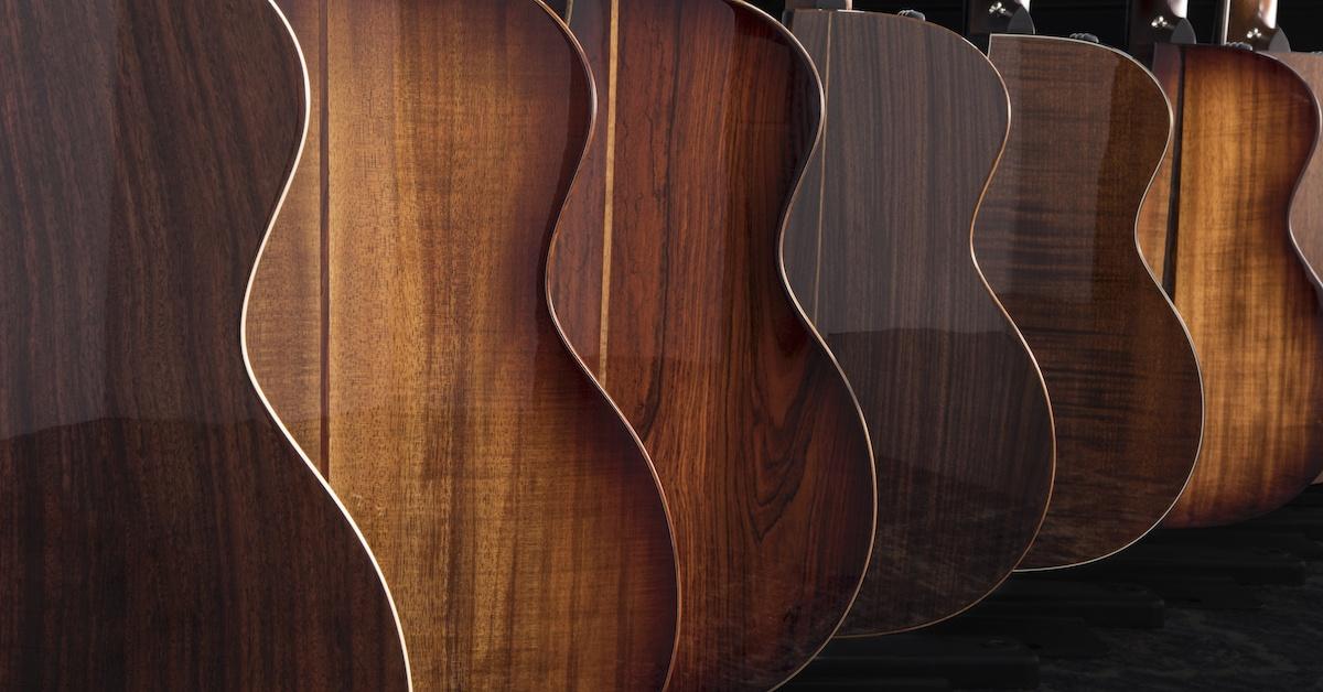 Acoustic guitar woods